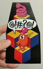 "Q Bert cabinet art sticker. 3.5 x 6"" (Buy any 3 of my stickers, Get One Free!)"