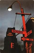 New York City, Theatre Area, Hotel Piccadilly at night, illuminated, lantern