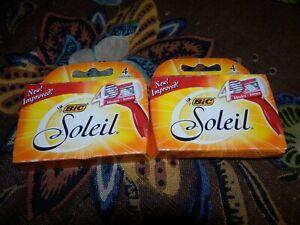 Bic Soleil Women Blades 8 Cartridges Refills Shaver Fit Schick Quattro Razor