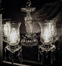 Vintage 1930's Crystal  Chandelier fully restored