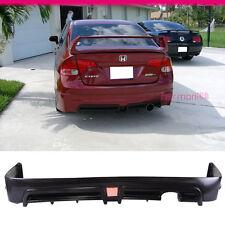 Fit For 06-11 Honda Civic Sedan 4Dr MUG RR Rear Bumper Lip w-LED Brake Light