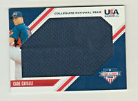 2020 USA Stars & Stripes JUMBO GAME RELIC BLUE CADE CAVALLI RC Rookie Nationals