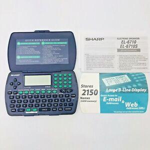 Sharp EL6710S Electronic Calculator Organizer 34KB 2150 Name Storage, Lg Display