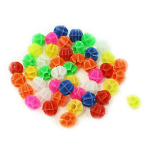 "Bike Spoke Assorted Color 0.55"" Dia Plastic Beads Decoration 45 Pcs AD"