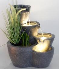 Springbrunnen Botana mit LED Beleuchtung Gartenbrunnen bepflanzbar Zimmerbrunnen