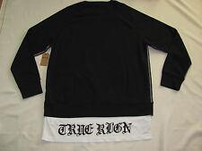 True Religion Pullover Sweatshirt with T Shirt Tails -Black Men's 3XL- NWT-$169