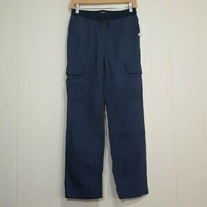 NWT Old Navy kids cargo pants navy size XL (14-16) drawstring knit waistband
