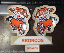 BRONCO Throwback (1963 Pre-Season) F/S-XL 20mil Football Helmet Decals/Bumpers