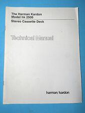 Harman Kardon Service Manual - Model HK 2500 - Original - Technical