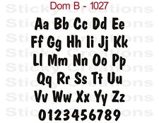 #1027 CUSTOM YOUR TEXT Sticker Window Vinyl Graphic Bold Lettering Decal Dom B