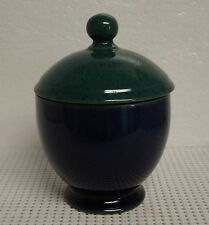 Denby HARLEQUIN Sugar Bowl with Lid BEST!  RED GREEN BLUE