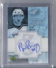 2007-08 UPPER DECK ICE BRAD BOYES UD AUTO SIGNATURE JERSEY SWATCHES BLUES