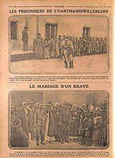 Prisonniers Feldgrauen Hartmannswillerkopf Vieil Armand Alsace Elsass WWI 1915