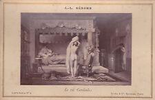 GOUPIL & Cie - J.-L. GEROME - LE ROI CANDAULE - Carte-album n° 4 - 1890 ca