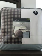"Cuddl Duds 104""X 90""King Size Reversible Comforter - Farmhouse Plaid New"