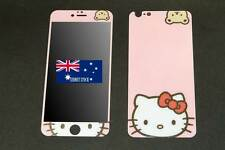 Pink Hello Kitty Premium Tempered Glass Front & Back Screen Guard iPhone 6 Plus