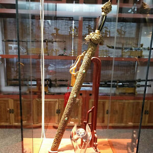 Highest Grade Dragon God Sword Refinings Fry Steel w Clay Tempered Sharp #4248