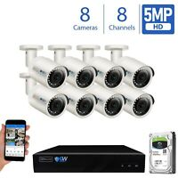 GW 8 Channel H.265 4K NVR 8 X 5MP 1920P PoE IP Camera Outdoor Security System