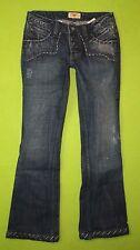Antik Denim Great Back Pockets 25 X 30 Short Womens Blue Jeans Denim Pants EN60
