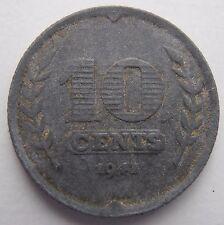 NETHERLANDS ZINC 10 CENTS 1941