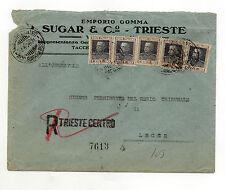 STORIA POSTALE 1928 REGNO C.50X50 SU RACC. TRIESTE 22/6 Z/1738