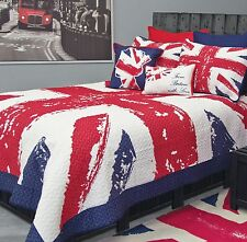 UNION JACK 1 STANDARD PILLOW SHAM QUILTED BRITISH FLAG ENGLAND PRINT BY BED LAM