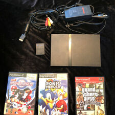 Sony PlayStation 2 PS2 Slim Console Black with Games Lot Bundle