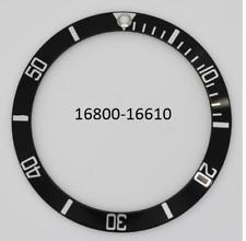 lunetta ghiera nera x  orologi rolex submariner 16800 16610 bezel watch orologio