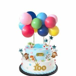 Balloons Cake Topper Arch GARLAND Birthday Wedding Party Decoration Rainbow UK