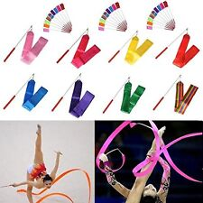 7 X GYM DANCE RIBBON RHYTHMIC GYMNASTIC STREAMER TWIRLING ROD BATON