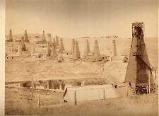 LARGE PHOTOGRAPH,24 x 30 cm. Albumen, Oil-field Georgiën Russia. RARE