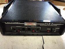 USED TELTONE TLS-3 TELEPHONE LINE SIMULATOR 250-00137-02,201-00889-03,BOXZG