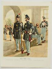 Artillery Infantry H A Ogden Vintage Historical Military Uniforms America Print