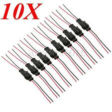 10pcs 2Pin Way Car Motorcycles Waterproof Seal Electrical Connector Plug /w Wire