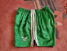 Vintage 90s NWT Adidas Trefoil Mens L Green White Stripe Running Shorts NEW