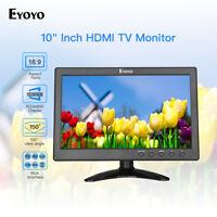 "Eyoyo 10"" TV Monitor VGA/AV/USB Input + Stand 150° 1024x600 for Raspberry Pi DVD"