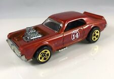 HOT WHEELS 1969 CUSTOM COUGAR 2007 FEB 14 VALENTINES *RED* FLAME GOLD 5SP RIMS