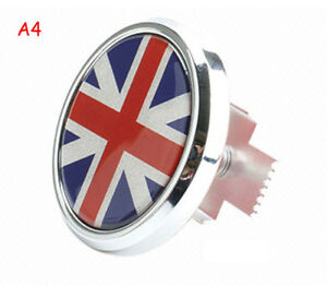 Red Union Jack UK Flag 3D Metal Auto Car Truck Front Grille Badge Emblems Decal