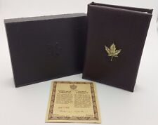 1989 Royal Canadian Mint $100 Gold Coin Proof Empty Brown Leather Box & COA