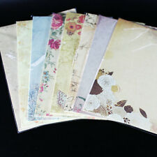 80 sheets Vintage Retro Design Writing Stationery Paper Pad Letter Set 8 set