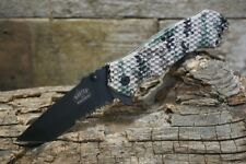 Master USA Spring Assisted Tactical Serrated Pocket Knife Military Camo New MU-A