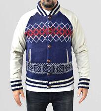 G-Star Noel Baseball Oxford Wool Jacket. Leder Knöpfe. Herrenjacke Größe: L. NEU