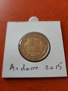 2 EURO ANDORRE FACE NATIONALE 2015