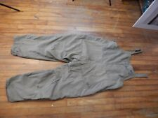 """vintage 1958 US Army Cold Weather WOOL-LINED OVERALLS Large 38-40"""" waist"""