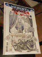 Harley Quinn #11 Frank Cho NM Variant Black and White Joker Pen Crosshatch