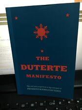 The Duterte MANIFESTO President Rodrigo Bestseller Book Philippines
