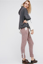 NEW Free People Pink Brandywine Cozy Pant Sweater Trousers Pants Joggers $168 S
