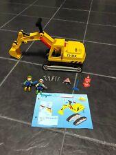 Playmobil 3001 zo goed als nieuw graafmachine compleet + handleiding