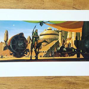 Phantom Menace PRINT Star Wars Rare Vintage 1999 Doug Chiang Lithograph Pod Race