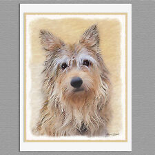 6 Berger Picard Dog Blank Art Note Greeting Cards